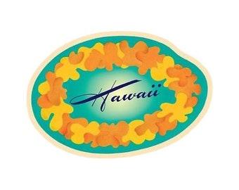 Hawaiian Flower Lei Sticker Decal from Maui, Hawaii