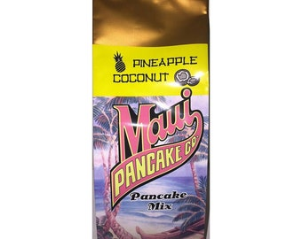 Hawaiian Pineapple Coconut Pancake and Waffle Mix - 10 oz Bag from Maui, Hawaii