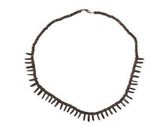 Hawaiian Jewelry Handmade SMALL Coconut Spike Hawaiian Warrior Necklace from Maui, Hawaii