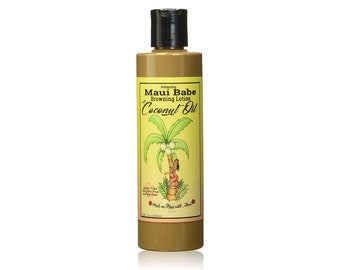 Maui Babe Browning Lotion Tanning Lotion with Coconut Oil 8 Fl Oz