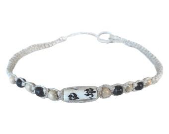 Hawaiian Jewelry Handmade Honu Sea Turtle Hemp Choker Necklace from Hawaii
