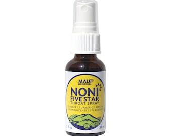 Noni Five Star Throat Spray 1 oz (30 ml) by Maui Medicinal Herbs from Maui, Hawaii
