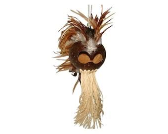 Hawaiian LARGE Natural Handmade Ikaika Warrior Helmet From from Maui, Hawaii