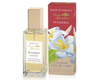 Royal Hawaiian Perfumes Plumeria Flower Cologne 1.6 Ounce from Maui, Hawaii