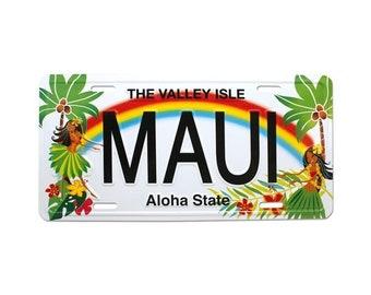 6in x 12in Vintage Hawaiian Hula Honeys Embossed Aloha State License Plate - Maui