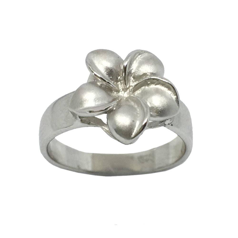 Hawaiian heirloom jewelry single plumeria flower ring sterling etsy hawaiian heirloom jewelry single plumeria flower ring sterling silver jewelry from maui hawaii izmirmasajfo