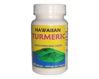Hawaiian Turmeric Root Tablets Maui Medical Herbs 100% Pure From Maui Hawaii