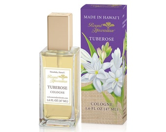 Royal Hawaiian Perfumes Tuberose Flower Cologne 1.6 Ounce from Maui, Hawaii