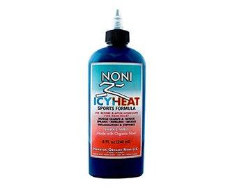 IcyHeat Sports Formula Noni Lotion 8oz Hawaiian Organic Noni
