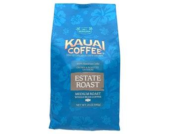 Kauai Coffee Estate Medium Roast Whole Bean 24 oz Bag from Hawaii