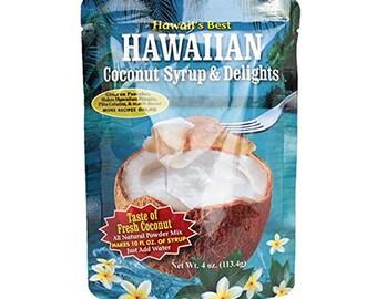 Kauai Tropical Syrup, Inc Hawaiian Coconut Syrup and Delights, 4.0 Ounce