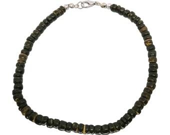 Hawaiian Jewelry Handmade Coconut Bead Anklet With Lobster Clasp Hinge from Maui, Hawaii