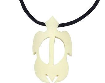 Hawaiian Jewelry Honu Hawaii Sea Turtle Buffalo Bone Hawaii Necklace From Maui Hawaii