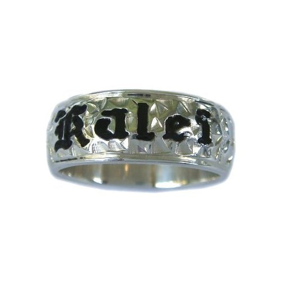 Hawaiian Heirloom Jewelry 5mm Custom Sterling Silver Ring with YOUR NAME