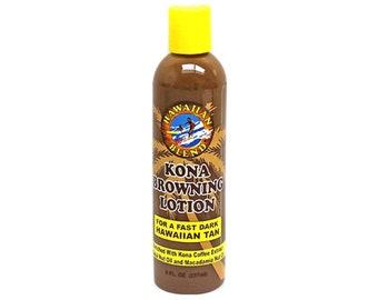 Hawaii Kona Browning Lotion By Hawaiian Blend - For a Fast Dark Hawaiian Tan