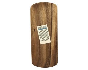 Hawaiian Handmade Acacia Wood Oval Serving Tray from Maui, Hawaii