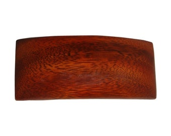 Hawaiian Koa Wood Rectangle Hair Clip Barrette From from Maui, Hawaii