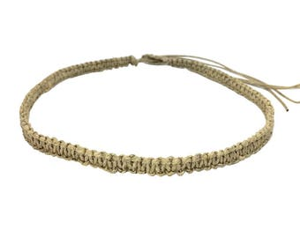 Hawaiian Jewelry Hawaiian Hemp Choker Necklace from Maui, Hawaii