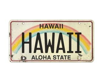 6in x 12in Vintage Hawaiian Embossed License Plate - Hawaii