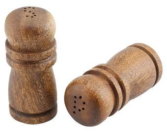 Hawaiian Kamani Wood Salt & Pepper Shakers 4 Inches from Maui, Hawaii