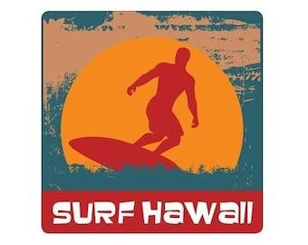 Surf Hawaii Sticker Decal from Maui, Hawaii