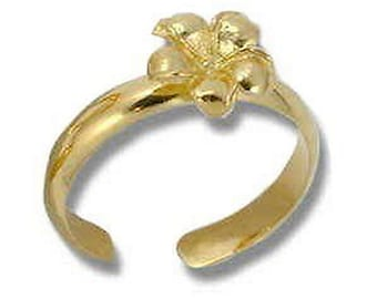 Hawaiian Heirloom Jewelry Sterling Silver With 14k Gold Finish Toe Ring from Maui, Hawaii