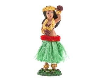 Hawaiian Hula Girl with Uli Uli Dancing Dashboard Doll from Hawaii