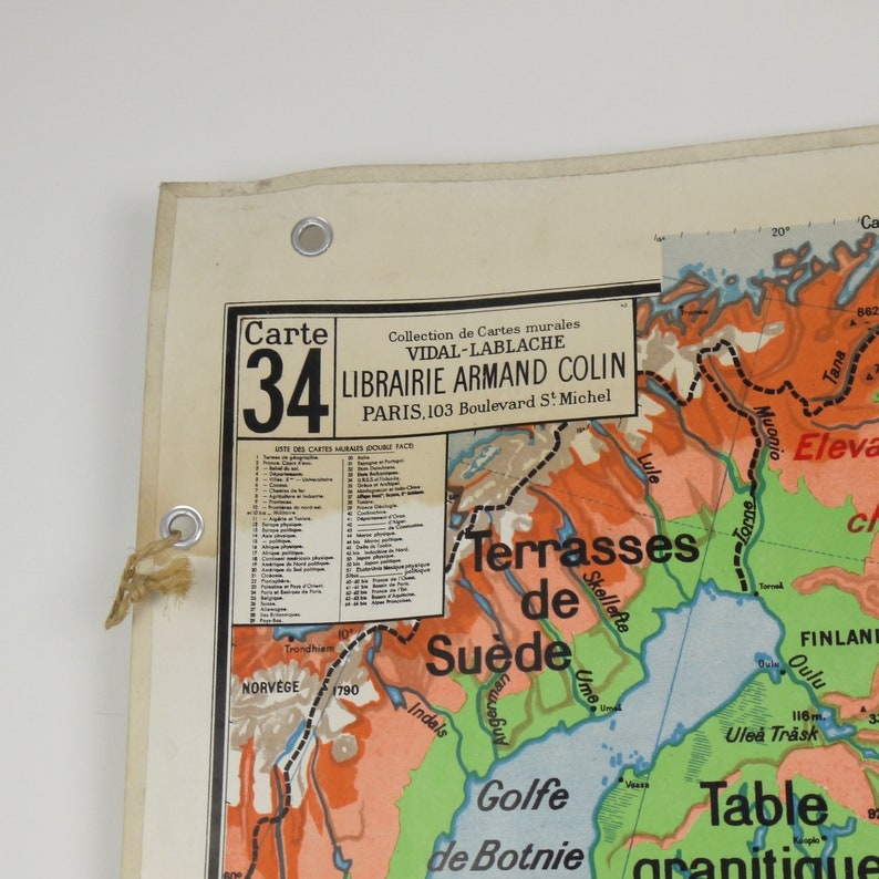 Carte Urss.Carte Geographique Vintage Vidal Lablache Urss Et Finlande Etsy