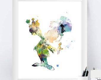 Mad Hatter, Alice in Wonderland, Art Print, Mad Hatter Print, Have I Gone Mad, Tea time, Kids Room Decor, Gift, Printable, Wall Art
