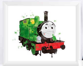 Thomas and Friends Percy the Small Engine printables Thomas and Friends Party Nursery print Gift wall art instant download
