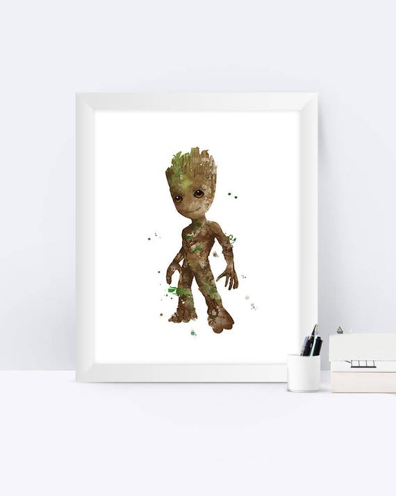 Poster A3 Guardians of the Galaxy Rocket Groot Gamora Star Lord Drax Marvel 06
