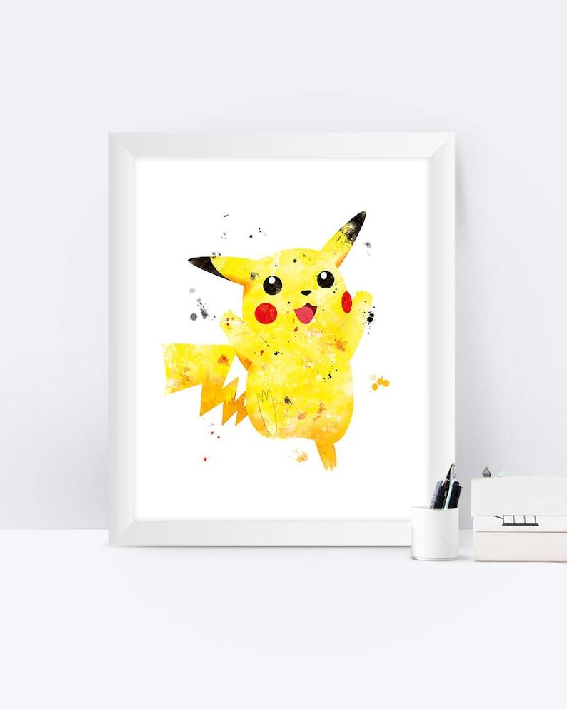 photo relating to Pokemon Posters Printable identify Pikachu Pokemon Artwork Print, Pokemon Poster, Pokemon Presents, Watercolor, Printable Pikachu, Young children, Nursery, Property Decor, Reward, Pokemon Wall artwork