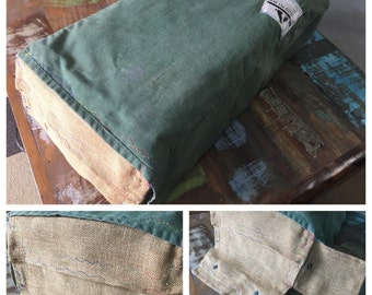 Vintage Australian Bank Bag Upcycled Into a Small Pet Bed