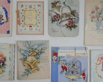 Vintage Wedding Anniversary Cards