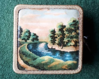 Vintage Tape Measure Gold Landscape