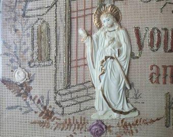Antique Punched Paper Victorian Berlin Work Jesus
