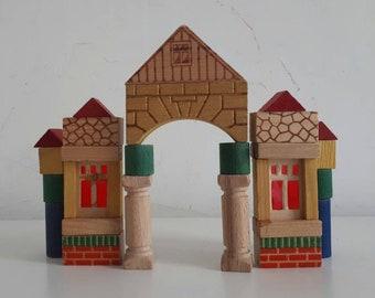 Vintage Box Set Wooden Blocks