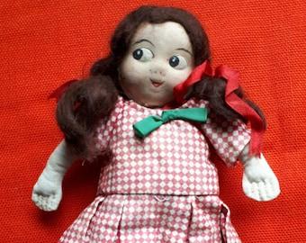 Vintage Side Eyes Cloth Rag Doll