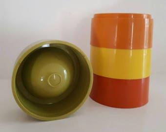 Vintage Stacking Tupperware Egg Cups Harvest