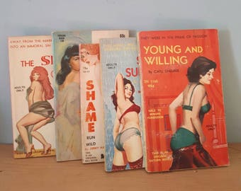 Collectible 1960s Pulp Paperbacks Tuxedo Adult Kitsch