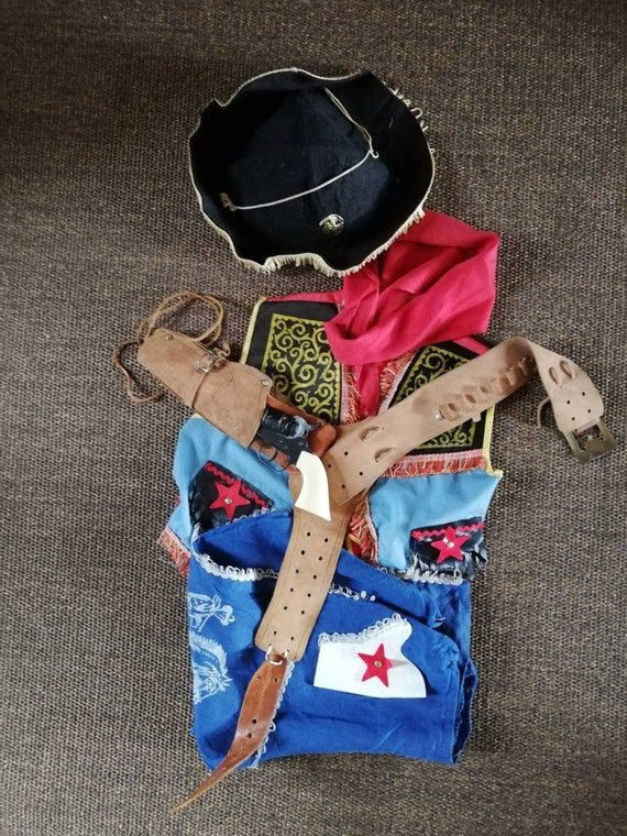 Vintage 1950s Cowboy Costume Waistcoat Trousers /'Cowboys and Indians/'