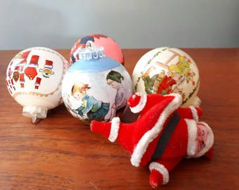 Vintage Kitsch Christmas Baubles