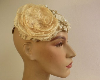 1 millinery flower // corsage flower Sinamay handmade // more available // couture