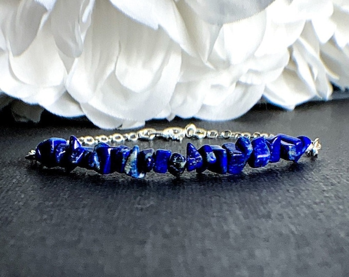Lapis Lazuli Blue Crystal Bracelet