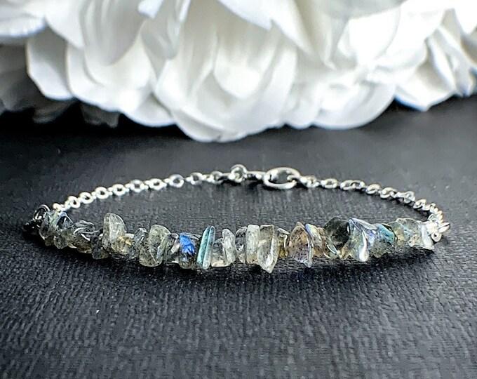 Labradorite Bracelet positive Energy Jewelry Everyday Bracelet Calming Bracelet Anxiety Gemstone Bracelets New Beginnings Labradorite