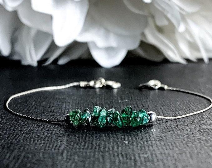 Raw Green Aventurine Bracelet Ankle Bracelet Prosperity Calming Anklet