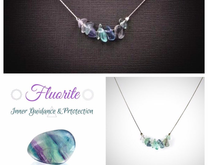 Rainbow Fluorite Necklace, Empath Jewelry, Anxiety Jewelry, Empath protection