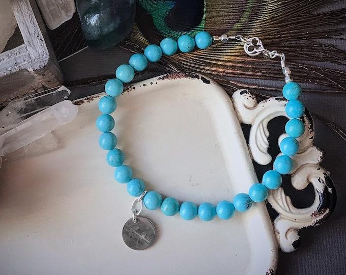 Sagittarius Zodiac Bracelet Turquoise Birthstone