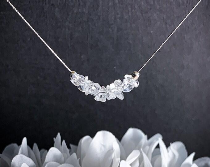 Quartz Necklace, crystal choker, spiritual stones, mindfulness jewelry, anxiety jewelry