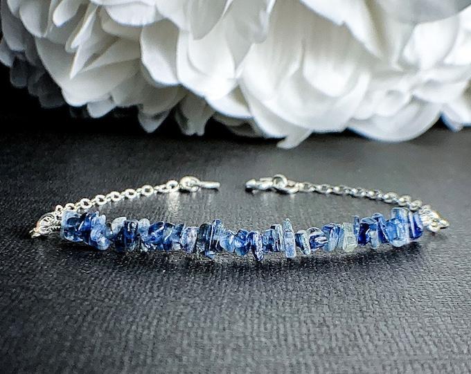 Blue Kyanite Raw Healing Stone Bracelet
